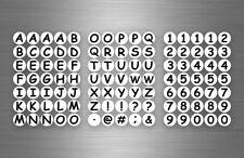 Planche autocollant sticker  adhésif alphabet numero chiffre rond calendrier r2