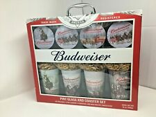 New Budweiser Clydesdale's Pint Glass and Coaster Gift Set