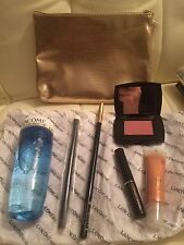 Lancome Makeup Gift Set In Gold Makeup Bag, NWOT