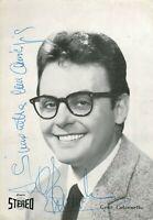 Musica - Autografo del cantante Gene Colonnello (Milano, 1935 - Stradella, 2011)