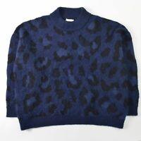 Kate Spade Alpaca Wool Sweater Blue Womens Size XXL 2XL