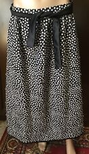 Silk quilted skirt with liningMax Mara Women black-white color size 46handwork