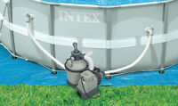 Intex 1200 GPH Krystal Clear Above Ground Pool Sand Filter Pump Set | 28643EG