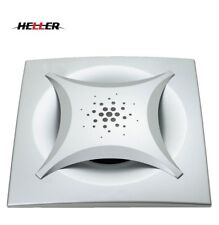 "Heller DIY Ultimate Series 10"" Square Ducted Ceiling Exhaust Fan Silver"