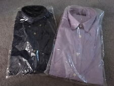 NEW 2 MEN'S CUSTOM MADE LONG SLEEVE DRESS SHIRTS! 100% COTTON 15-1/2 - 36/37