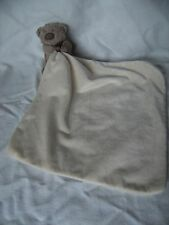 "GEORGE AT ASDA CREAM CUDDLE BLANKET / HUG TOY/ COMFORTER  10"" x 10"""