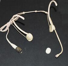 Omnidirectional Foldable earhook Headset Microphone for Audio Technica Beige