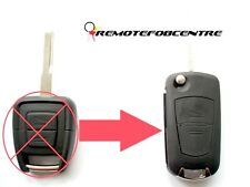 RFC 2 button flip key case upgrade for Vauxhall Opel Vectra B remote fob HU43