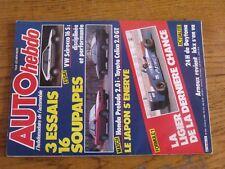 $$$ Revue Auto hebdo N°509 F1 LigierVW Scirocco 16 SHonda Prelude 2.0 i