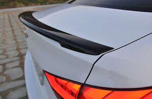 YB6 Black Rear Lip Trunk Spoiler For 2015 2018 Genesis Sedan G80