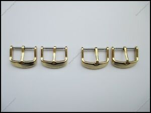 Top Quality Gold Plated Solid Stainless Steel Watch Buckle 16mm 18mm 20mm 22mm