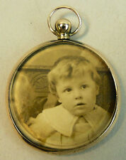 EDWARDIAN 9K ROSE GOLD PICTURE LOCKET PENDANT BIRMINGHAM 1905