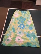 Pierre Cardin Blue, Green, White Floral Skirt, Size 8, Great Condition