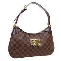 LOUIS VUITTON THAMES PM HAND BAG AR4028 PURSE DAMIER EBENE N48180 AUTH 31416