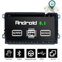 "9"" Autoradio Android 8.1 Stereo GPS Navi BT Mirror For VW GOLF 5 6 Passat Touran"