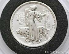 2001 Uk Britannia 1/2oz Fine Silver Proof  £1 One Pound Coin In Capsule