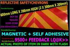 PAIR STICKERS REFLECTIVE CHEVRONS MOTORWAY HIGHWAY SITE HEALTH SAFETY VAN SIGN