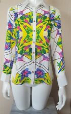 Coco's Kiss Geometric Cold Shoulder Long Sleeved Blouse **Beautiful** Size Small