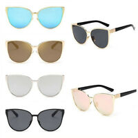 Women Cat Eye Sunglasses Retro Vintage Shades Oversized Designer Glasses Eyewear