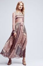 Savoir velvet printed maxi dress