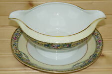 Thomas Columbia Bavaria -Gravy Boat or Sauce Bowl, with Attached Underplate, 7""