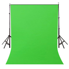 Photography Green Background Screen Portable Stand Photo Backdrop Crossbar 5X7Ft