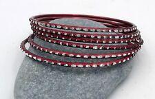 6 bracelets bangles bordeaux miroirs Bollywood danse orientale Rajasthan Inde