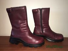 WOMENS SKECHERS CASUAL LEATHER BURGUNDY BOOTS SIZE 6