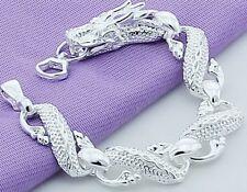 925 Sterling Silver Bracelet Womens Opulent Dragon Link Chain +GiftPkg D502