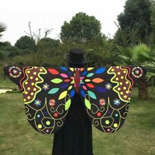 Summer Fabric Butterfly Wings Fairy Nymph Pixie Party Costume Accessory ceng