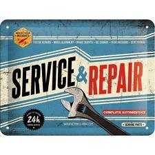 Garaje de reparación y servicio de Metal en Relieve Señal Pub Bar Paredes Decoración Placa