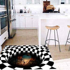 3D Stereo Joker Printed Anti-slip Home Room Rug Carpet Floor Door Mat Halloween