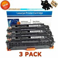 3PK Black CF380X Toner Cartridges for HP 312X Laserjet MFP M476nw M476dn M476dw