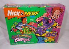 Rare Vintage 90's Nick & Nerf Backwards Basketball with box Kenner Nickelodeon
