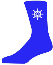 High Quality Blue Socks With a Ships Wheel, Lovely Birthday Gift