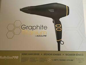 Brand NEW BaBylissPRO Graphite Titanium Ionic Hair Blow Dryer BGT6395NUC