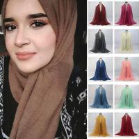 Women Premium Viscose Maxi Crinkle Cloud Hijab Scarf Shawl Soft Islam Muslim XIU
