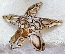 John Gibbons Signed Hand Made Sculpted Glass Amber Barnacle Creeping Starfish