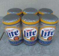 Vintage Miller Lite Inflatable Beer Cans 6-Pack Silver New Mancave