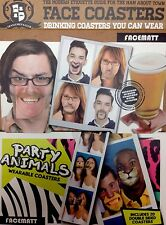PARTY ANIMAL FACE COASTER COMBO 2 SEPARATE SETS