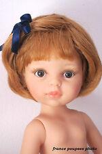 """perruque""""paola""""rousse tête19/20.5cm poupée ancienne moderne-Doll wig head sz7/8"""""""
