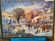 1000 Piece Puzzle in Gift Box ~ VILLAGE IN WINTER ~ Pieces are bagged ~ 27 x 19
