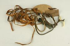 VINTAGE Costume Jewelry Leather Barrette Cording Tag Labels Necklaces & Thongs