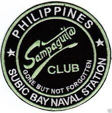 SAMPAGUITA CLUB, SUBIC BAY NAVSTA PHILIPPINES PATCH, GONE BUT NOT FORGOTTEN    Y