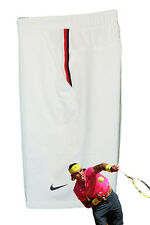 NIKE Mens DriFit Stay Cool TENNIS SHORTS Ivory White (black trim) Large L
