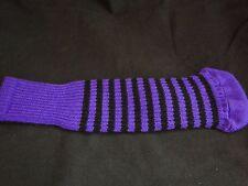 Knitted zebra style Fairway & Driver Golf Club head cover Purple / Black