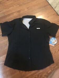"""New Womens Columbia PFG """"Tamiami"""" Omni-Shade / Wick Vented Fishing Shirt"""