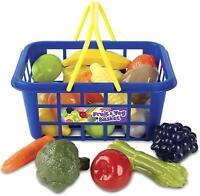 Casdon Shopping Basket 21 Pcs Fruit & Veggie Educational Toy Little Shoppers Fun