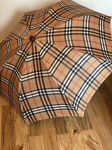 Vintage Rare burberry Signiture Folding Umbrella