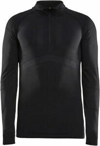 Craft Active Intensity Zip Neck Long Sleeve Top | Black/Asphalt | 2XL